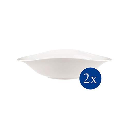 Villeroy & Boch - Vapiano Pastaschalen-Set, 2 tlg., 800 ml, 27 x 21 cm, Premium Porzellan, spülmaschinen-, mikrowellengeeignet, weiß
