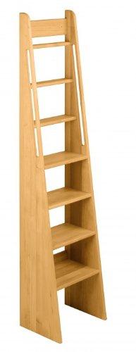 BioKinder 22257 Noah Treppen-Leiter Hochbett Treppe aus Massivholz Erle 180 cm