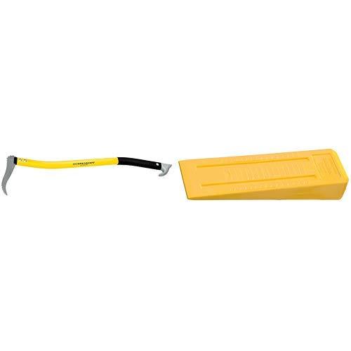 Ochsenkopf OX 172 A-0700 Alu-Handsappie 70 cm / Forst-Werkzeug für Holzarbeiten / Holz-Stapelhilfe zum Aufnehmen, Ziehen und Heben & OX 34-0400 Kunststoff-Fällkeil LABRADOR