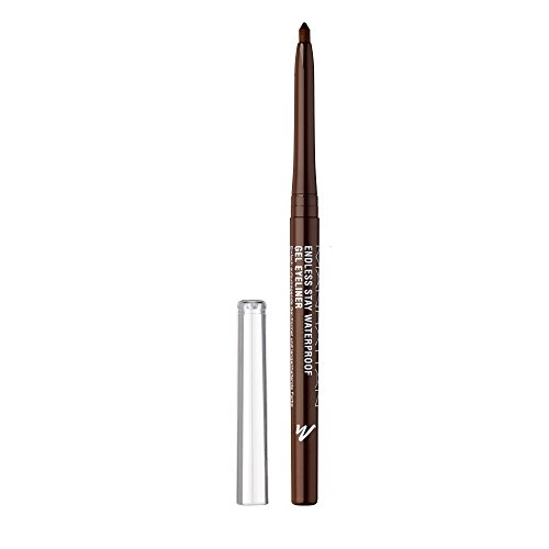 Manhattan Endless Stay Waterproof Gel Eyeliner – Brauner Gel Eyeliner mit herausdrehbarer Mine ohne Anspitzen – Farbe Rich Brown 001 – 1 x 2,6g