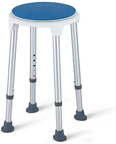 Universal Badezimmerhocker, Duschstühle für Senioren, runde Duschhocker 360 Grad rotierende Sitzhöhe verstellbarer tragbarer, starker und langlebiger Mehrzweck-Duschhocker, Bad & Duschsitz, Duschhocke