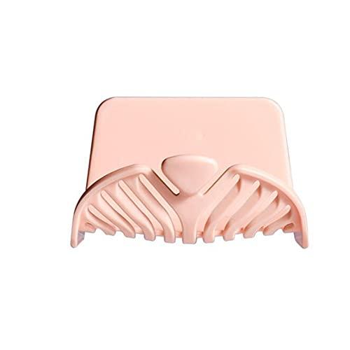 YYURUYI Jabonera de pared para baño sin perforaciones, estante para jabón de drenaje, adhesivo de plástico que no deja marcas, gancho impermeable, estante para jabón duradero y resistente al desgaste,
