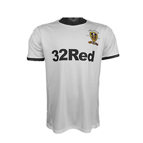 PUPPYY Leeds Home 2019-20 Retro Soccer Jersey, Erwachsene Unisex Football Training T-Shirt, Komfortables Fußball Spiel Uniform L