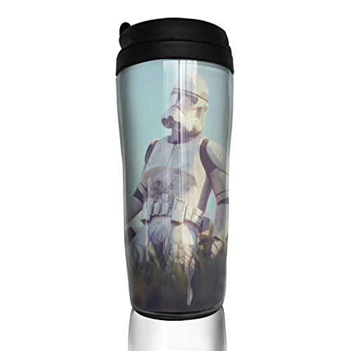 haiyou Fantasy Movie S-tar War - Taza de café de doble pared, 14 onzas con aislamiento portátil vasos de viaje de 350 ml