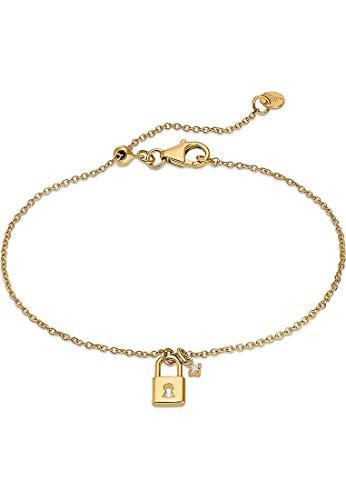 Guido Maria Kretschmer Damen-Armband 925er Silber 1 Diamant One Size Gold 32016192