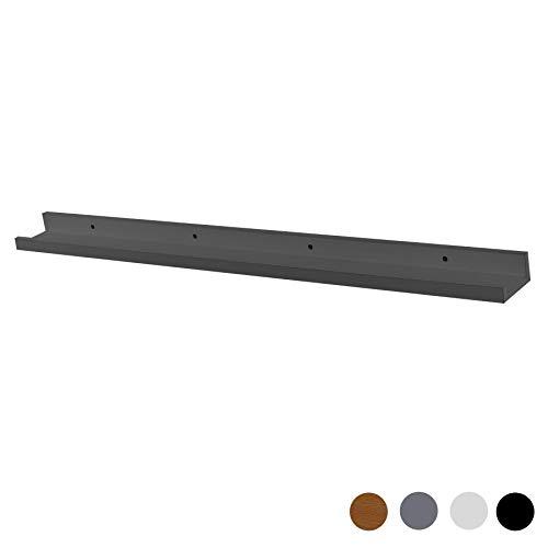 Harbour Housewares Schwebende Bilder-Regalleiste - Holz - Grau - 91,5 cm