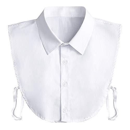 Kayhan Nep Kraag Afneembare Dickey Kraag Blouse Half Shirts Valse Kraag Peter Pan Faux Valse Kraag voor Vrouwen Gunsten - wit - Een maat