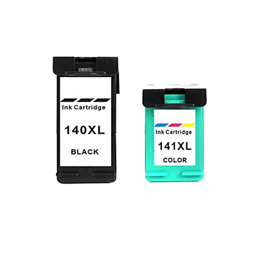 Cartucho de tóner compatible con HP140XL 141XL para HP Deskjet D4260 D4280 D4360 OfficeJet J5725 J5730 J5740 J5750 (negro, cian, magenta y amarillo)