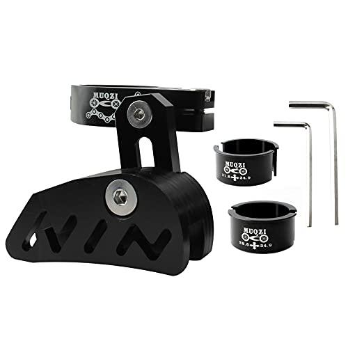LHYAN Guía de cadena para bicicleta de montaña, guía de cadena para bicicleta MTB, protector de cadena de bicicleta, aleación de aluminio, color negro