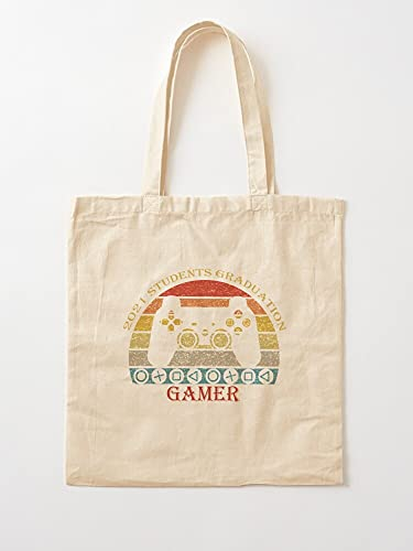 Genérico 2 6 Gaming 1 Sayings 4 3 7 5 | Bolsas de lona con asas, de algodón duradero