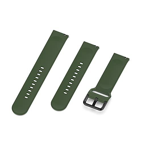 para Samsung Galaxy Watch Active (40Mm) Correa de silicona de dos colores R500 pulsera de rayas rectas (conjunto L+S)