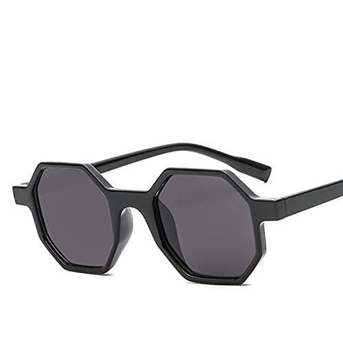 AMFG Gafas de sol personalizadas Polygon Fashion Tendencia Gafas Gafas de sol de bisagra de metal (Color : E)