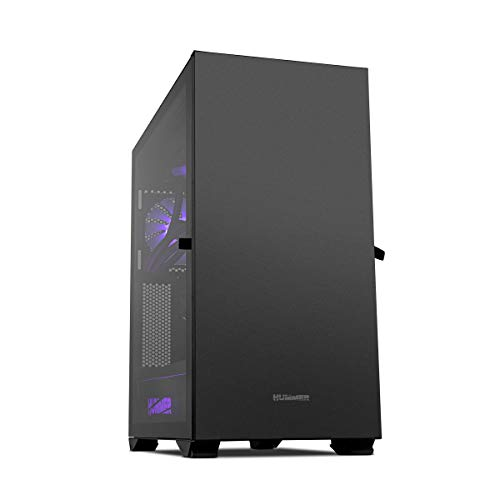 Hummer Nexus -NXHUMMERNXSBK- Caja PC tamaño extra ARGB E-ATX, ATX, M-ATX-ITX, panel lateral crital templado, 4 ventiladores 120m incluidos, espacio hasta 9 ventiladores, color negro