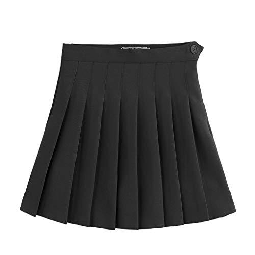 LafyHo Frauen mit hohen Taille A-Linie kurzes gefaltetes Kleid Teen Tennis Scooters Miniröcke