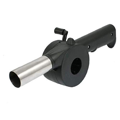 JRXyDfxn Handkurbel angetrieben Grill BBQ Grill-Ventilator-Luft-Gebläse für Outdoor-Picknick Camping Grill Werkzeuge Zubehör 1 Stück Schwarz