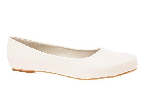 Andres Machado Classic Women Ballerinas/Flats in Beige Faux Soft-Leather. 9 UK / 43 EU