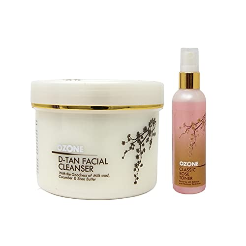 OZONE D Tan Facial Cleanser 250 gm with Classic Rose Toner FREE