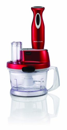 Morphy Richards Accents 48919 Hand Blender and Food Processor. Red