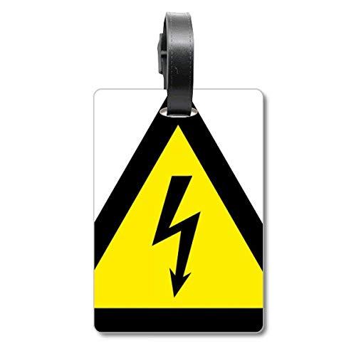 Etiqueta de identificación para Maleta con símbolo de Advertencia, triángulo de Choque...