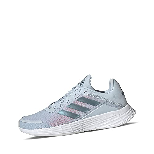 adidas Performance GV9822 Duramo SL K - Zapatillas deportivas para niña (malla sintética, suela de goma, talla única), azul claro blanco, 37 1/3 EU
