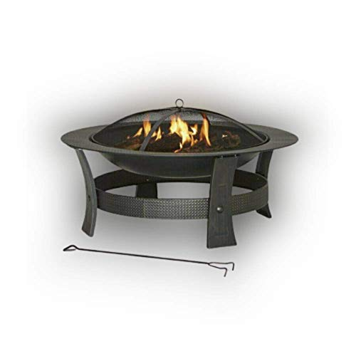 Cartener Wood-Burning Fire Pit W Black/High Temperature Painted Steel 35-in.