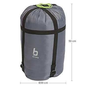 Bo-Camp - Housse de compression pour sac de couch. - XL - Ø 30 cm - Gris