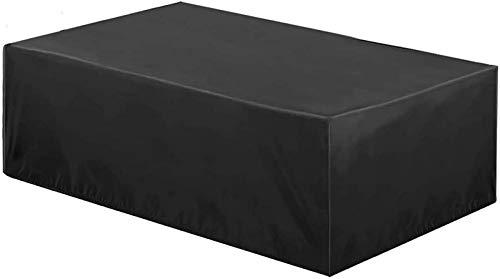 AXAA Cubierta para Muebles de jardín 213x132x72cm, Rectangular Impermeable, Anti-UV, Cubierta de Patio a Prueba de rasgaduras, para Patio, Exterior, Protector de Muebles de jardín.- Negro
