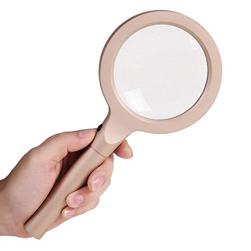 Massoser loep, handmatige conserveringsdoos, 10-20 keer zoom voor oudere mensen lezen en repareren een HD vergrootglas lamp 12 LED spiegel kinderspiegel dubbel frame