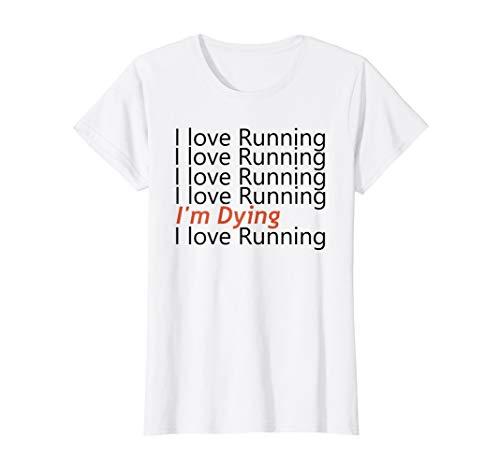 Womens Cool Funny Running T-Shirt For Women I Love Running T-Shirt