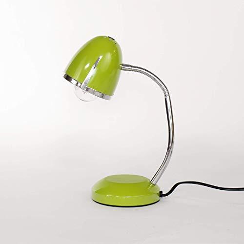 Grüne Schreibtischlampe Retro Design Metall E27 Tischleuchte 60er Jahre Leselicht Büro Arbeitsplatz
