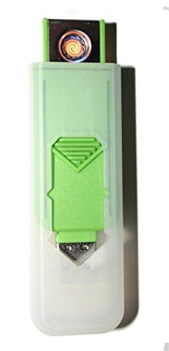 USB Smart Feuerzeug von Champ High Power Lange Lebensdauer Wiederaufladbare Zelle Keine Flamme Kein Gas Nachfüllbare Qualität Smart USB Igniter Green
