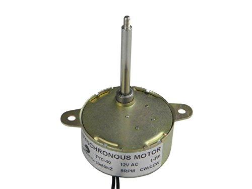 5RPM CW//CCW Longueur de larbre 36mm CHANCS TYC-40 Moteur synchrone AC 12V Courant Alternatif