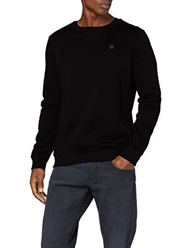 G-STAR RAW Herren Pullover Sweater Premium Basic, Dk Black B692-6484, X-Small