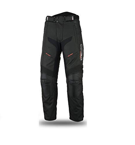 MBSmoto LP24 Roader Motorfiets Scooter Cruiser Touring Waterdicht Winddicht Textiel Cordura Dames Broek Zwart 4XL Zwart