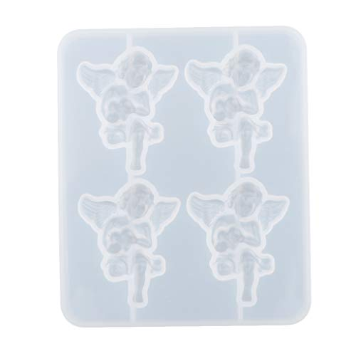 harayaa 1 Juego Angel Baby Shape Molde de Silicona Molde para Hornear Molde para Tarta de Decoración de Tarta