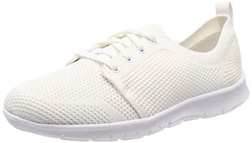 Clarks Step Allenasun, Scarpe da Ginnastica Basse Donna, Bianco (White-), 42 EU