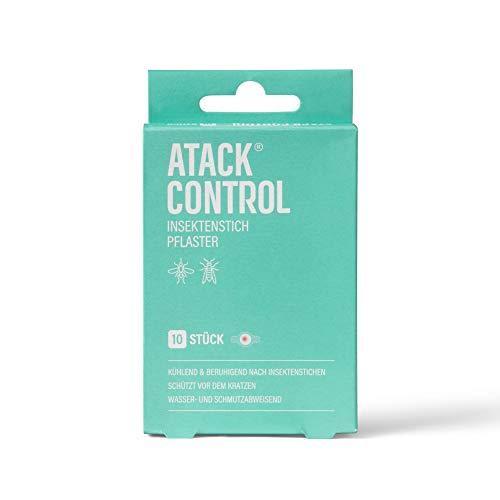 Atack Control Insektenstichpflaster - mit Hydrogelkern - beruhigend nach Insektenstichen - schützt vor dem Kratzen - Wasser- und Schmutzabweisend