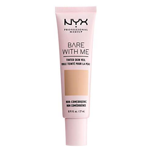 NYX Professional Makeup Bare With Me Tinted Skin Veil, BB-Creme, Feuchtigkeitsspendendes Aloe- und Gurkenextrakt, Von Hautpflege inspiriert, Leichte Abdeckung, Farbton:...