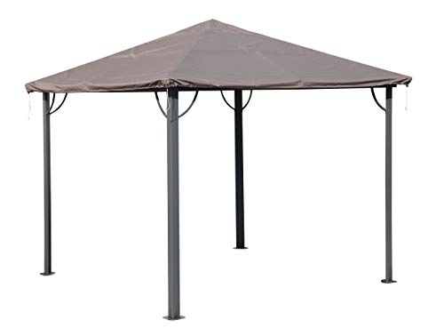 QUICK STAR Gazebo Cover Waterproof 3 x 3 m for Fabric and Hardtop Gazebo Replacement Roof Party Tent Cover