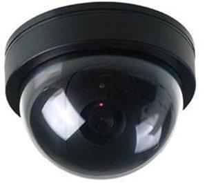 BW Cámara Falsa de Seguridad para el hogar, cámara de Seguridad simulada cámara de Seguridad Domo con luz LED Intermitente