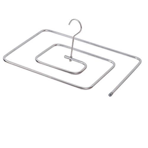 SASKATE - Appendiabiti in acciaio inox, quadrato, a forma di spirale, per stendibiancheria, rotante