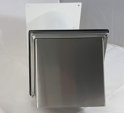 VentilationNord - Scatola da parete per condizionatori mobili, monoblocco, in acciaio inox,...