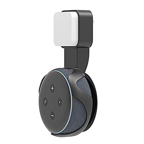 ZXY Inicio Inteligente portátil Altavoz inalámbrico, Montaje en Pared Bluetooth Echo Point 3 Soporte de Pared del Enchufe de alimentación Accesorios,Negro