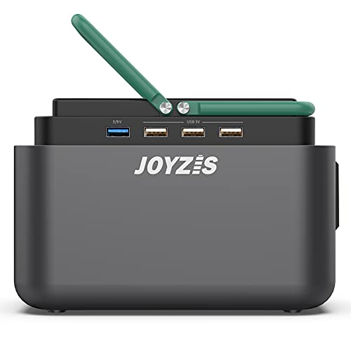 150Wh/40800mAh Portable Power Station, JOYZIS Solar Generator with 110V AC Outlet/4 DC Ports/4 USB Ports, Backup Battery Pack Power Supply for Outdoor Advanture Load Trip Camping