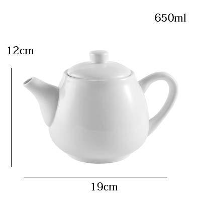 Tetera de cerámica blanca de 650 ml-1000 ml para café, porcelana, diseño de flores, frutas, tetera, para el hogar, restaurante, hotel, jarra de agua 650ml