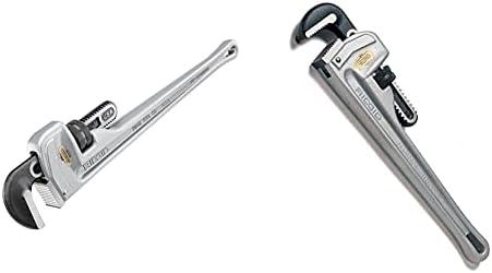 RIDGID 31105 Model 824 Aluminum Straight Pipe Wrench, 24-inch Plumbing Wrench , grey