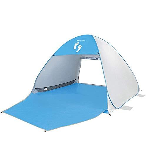 SKSNB Carpa Familiar para Exteriores, protección UV, Playa emergente, Impermeable, Adecuada para 2 a 3 Personas, para Acampar para familias, Carpa para Exteriores, Azul (Color: Plata)