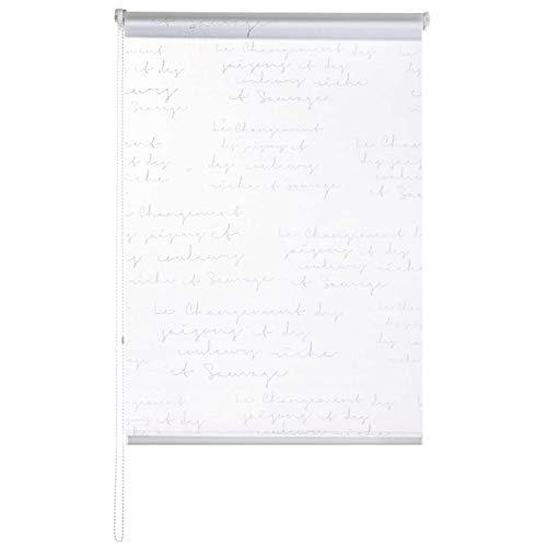 casa pura® Fashion Rollo Calligraphy | Blickdicht & lichtdurchlässig | Klemmrollo für Fenster, auch ohne Bohren anbringbar | 9 Größen (100x150cm)