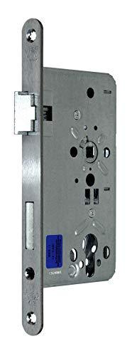 BKS Zimmer Türschloss Objektqualität 0515 Kl. III für Profilzylinder 55/72/8, Edelstahl Stulp: 20 x 235mm abgerundet, DIN Links incl. SN-TEC® Montageset