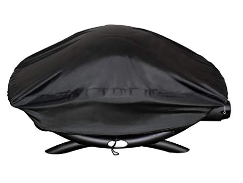 ProHome Direct Waterproof Grill Cover for Weber Q2000 Series Grills, Compare to Weber 7111 Cover, Black